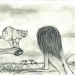 Löwe Katze 6